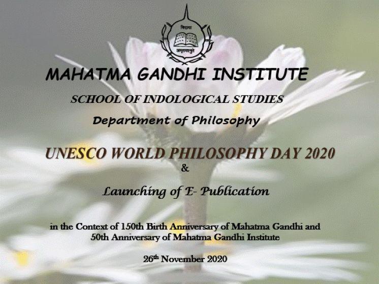 UNESCO World Philosophy Day Celebrations 2020