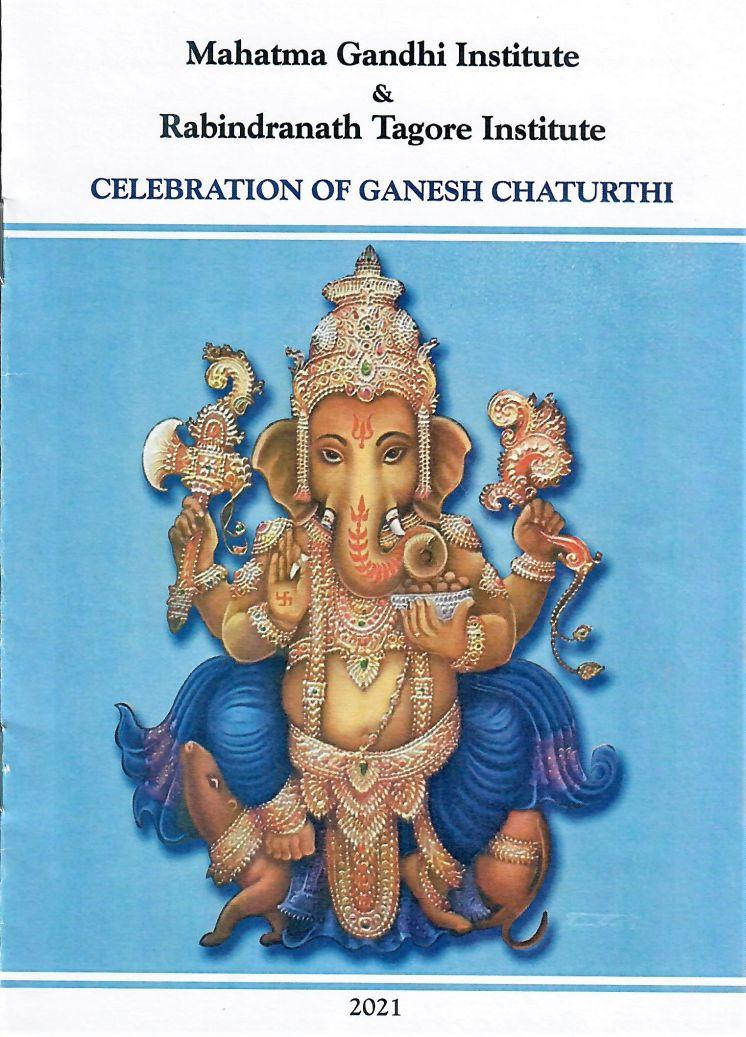 MAHATMA GANDHI INSTITUTE - GANESH CHATURTHI CELEBRATIONS